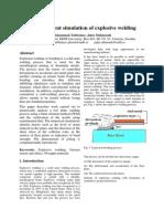 Finite Element Simulation of Explosive Welding