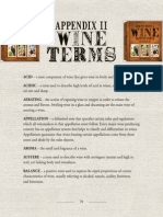 Appendix of wine terms from the book How to Host a Wine Tasting Party
