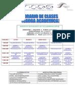 Carga Academica (Horario Escolar) 1 Semsestre Ing. Quimica ITVH