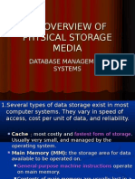 An Overview of Physical Storage Media