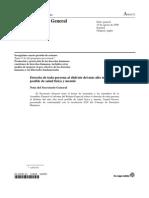 Informe del Relator Especial sobre el Derecho la Salud.