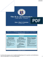 K to 12 Curriculum for CEAP-NBEC Usec Ocampo 28 Jan 2014