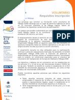 Voluntario  Requisitos inscripción