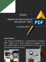 Reporte Optimización ZSight SSFD-109D 14012011