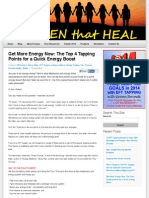 Top 4 Energy Tapping Points for a Quick Energy Boost | Women That Heal