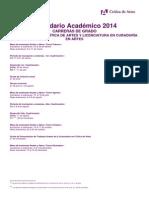 Calendario Académico Crítica de artes 2014