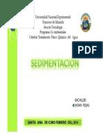 SEDIMENTACION 2014