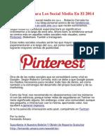 Tendencias para los social media en 2014…