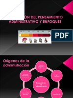 EVOLUCIÓN DEL PENSAMIENTO ADMINISTRATIVO Y ENFOQUES