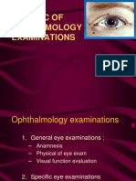 Basic of Ophthalmology Examinations