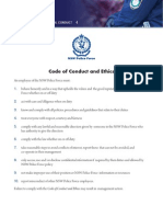 NSW Police Force Code of Conduct