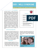 Prader-Willi Syndrome Fact Sheet