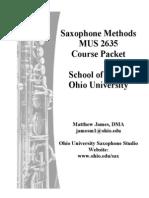 Saxophone Methods Packet