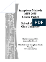 Saxophone Methods Packet