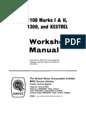 BMC 1100 & 1300 Workshop Manual | Vehicles | Propulsion J B Pive Wiring Diagram on