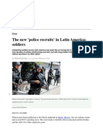The New 'Police Recruits' in Latin America- Soldiers- Christian Science Monitor