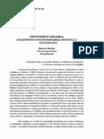 Brooks-Discovering Melibea Doncella Encerrada
