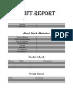 Einstein's Shift Report