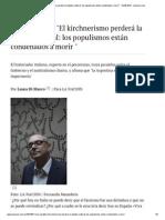 Loris Zanatta - El kirchnerismo perderá la batalla cultural
