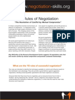10 Rules of Negotiation