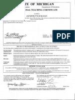 teaching certificate