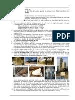 Parâmetros fiscalização empresa fabricante de ciment o r1