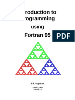 Introduction to programming using FORTRAN 95