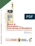 Manual de Catalogacion de Documentos Historicos y Etnograficos
