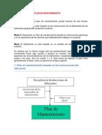 ELABORACIÓN DEL PLAN DE MANTENIMIENTO
