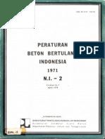 Peraturan Beton Bertulang Indonesia PBI 1971