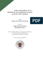 Modelización matemática de la difusión de peste porcina entre granjas