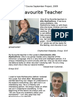 My Fav Teacher Project