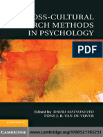 Cross Cultural Research Methods in Psychology