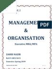 Semester 2 Assgn 1 Management & Organization