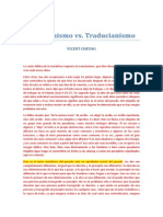 Creacionismo vs Traducionismo - CHEUNG