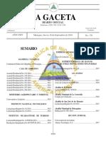 Constitucion Politica de Nicaraagua - Gaceta No. 176 (16!09!10)