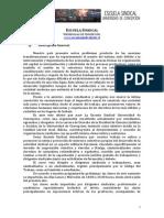 Proyecto Escuela Sindical 2013