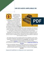 Amplificador de Audio Ampliable en Potencia