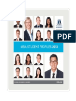 2013 MBA Student Profile Book