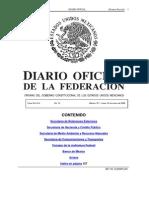 Decreto DOF Disponibilidad Armeria 19Ene2009