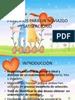 PRINCIPIOS PARA UN NOVIAZGO SATISFACTORIO PRESENTACIÓN EN D