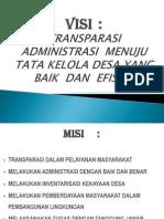VISI MISI CALON PERANGKAT DESA.ppt