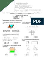 Examen de Matematicas 2 3er Bimestre