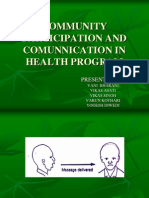 Community Participation & Communication in Health