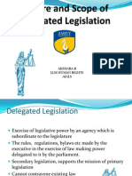 Nature and Scope of Delegated Legislation