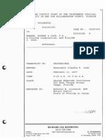 Transcript Judge Isom 9.20am Feb 13 2007