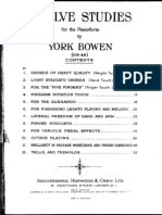 Bowen, York - 12 Studies for Piano