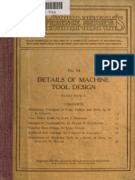 Details of Machine Tool Design