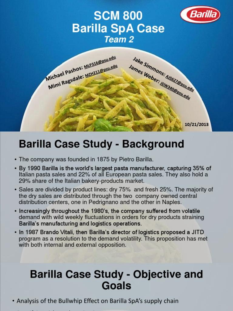 barilla spa case supply chain strategic management barilla spa case supply chain strategic management