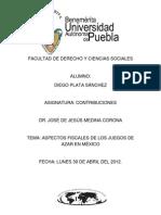 ASPECTOS FISCALES DE LOS JUEGOS DE AZAR EN MÉXICO